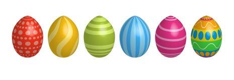 icone dell'uovo di Pasqua Struttura di progettazione geometrica Celebrazione felice di Pasqua della decorazione illustrazione vettoriale