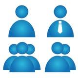 Icone dell'utente messe Fotografie Stock