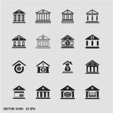 Icone della Banca messe Immagine Stock