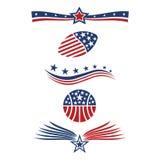 Icone della bandiera della stella di U.S.A. Fotografia Stock