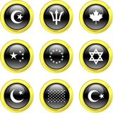 Icone della bandierina royalty illustrazione gratis