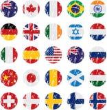 Icone della bandierina di paese Immagine Stock Libera da Diritti
