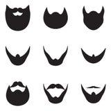 Icone della barba Immagine Stock