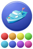 Icone della barca Immagini Stock