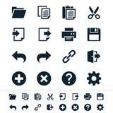 Icone della barra degli strumenti di applicazione Immagini Stock Libere da Diritti
