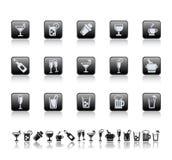 Icone della barra e della bevanda. Immagine Stock