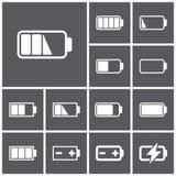 Icone della batteria Immagini Stock