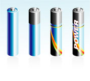Icone della batteria Immagine Stock Libera da Diritti