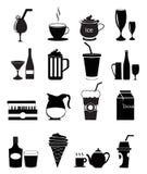 Icone della bevanda Fotografia Stock Libera da Diritti