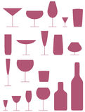 Icone della bevanda Immagine Stock