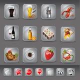 Icone della bevanda e dell'alimento Immagine Stock