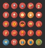 Icone della bevanda e dell'alimento Fotografia Stock Libera da Diritti