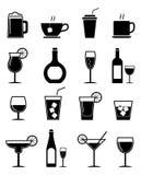 Icone della bevanda messe Immagini Stock Libere da Diritti
