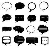 Icone della bolla di chiacchierata di discorso messe Fotografie Stock