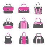 Icone della borsa di modo Fotografia Stock Libera da Diritti