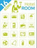 Icone della camera di albergo Immagine Stock Libera da Diritti
