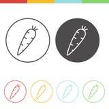 Icone della carota Fotografia Stock