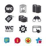 Icone della carta igienica Stanza di signore e dei signori Fotografia Stock Libera da Diritti
