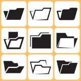 Icone della cartella messe illustrazione di stock