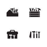 Icone della cassetta portautensili messe immagine stock
