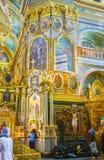 Icone della cattedrale santa di Dormition Fotografie Stock Libere da Diritti