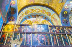 Icone della cattedrale della trinità santa Fotografia Stock