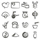 Icone della Cina a mano libera Fotografie Stock