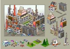 Icone della città, costruzioni, parte dei detailes del parco della raccolta Immagini Stock