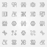 Icone della clonazione umana messe royalty illustrazione gratis
