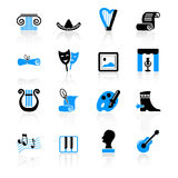 Icone della coltura Fotografia Stock