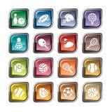 Icone della competizione sportiva royalty illustrazione gratis