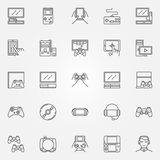 Icone della console del gioco messe Fotografia Stock