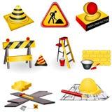 Icone della costruzione Fotografie Stock Libere da Diritti