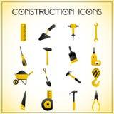 Icone della costruzione Immagine Stock