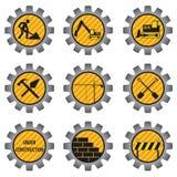 Icone della costruzione. Fotografia Stock