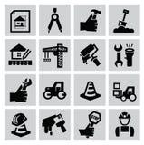 Icone della costruzione illustrazione di stock