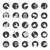 Icone della costruzione Fotografia Stock Libera da Diritti