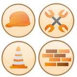 Icone della costruzione illustrazione vettoriale