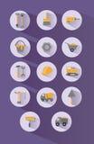 Icone della costruzione messe Immagini Stock