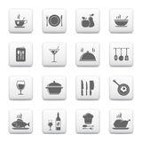 Icone della cucina & di cottura Fotografia Stock