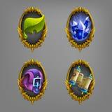 Icone della decorazione per i giochi Fotografie Stock Libere da Diritti