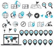 Icone della destinazione e di posizione Immagine Stock Libera da Diritti