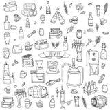 Icone della fabbrica di birra Fotografie Stock