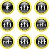Icone della famiglia Fotografia Stock Libera da Diritti