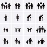 Icone della famiglia immagini stock