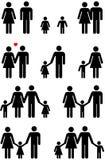 Icone della famiglia (uomo, donna, ragazzo, ragazza) Fotografia Stock Libera da Diritti