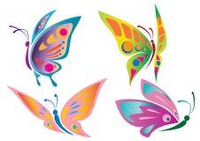 Icone della farfalla Fotografia Stock Libera da Diritti