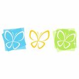 Icone della farfalla Fotografia Stock