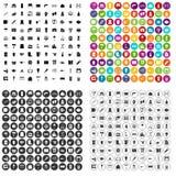 100 icone della ferramenta messe variabili Illustrazione di Stock