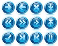 Icone della freccia di Web site Fotografia Stock